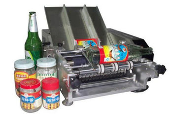 Plastic Bottle Labeling Machine , Semi Auto Pneumatic Sticker Applicator Machine