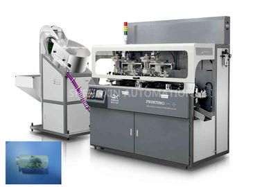 Fully Automatic Screen Print Machine Chain - Type For Multicolor Glass Tube Plastic Tube